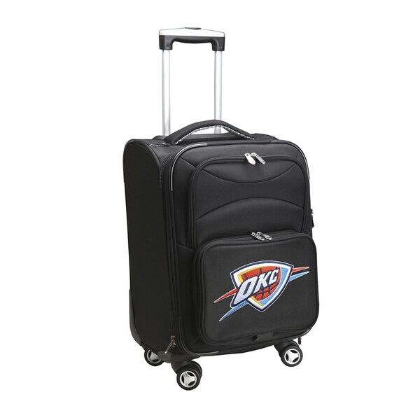 Denco Oklahoma City Thunder Black Nylon 20-inch Carry On 8-wheel Spinner Suitcase