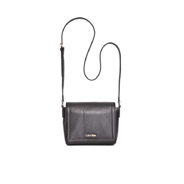 Calvin Klein Key Items Classic Pebble Black/Gold Faux Leather Crossbody Handbag