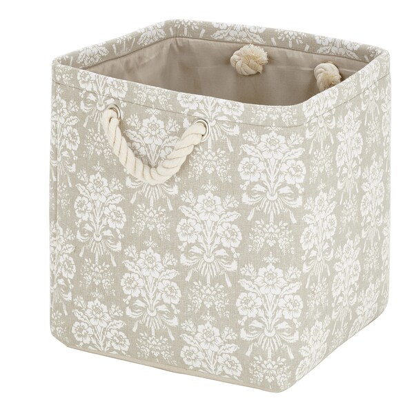 Laura Ashley Canvas Collapsible Storage Cube in Tatton Natural