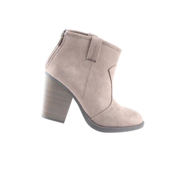 Hadari Womens Low Heel Cowboy Ankle Bootie