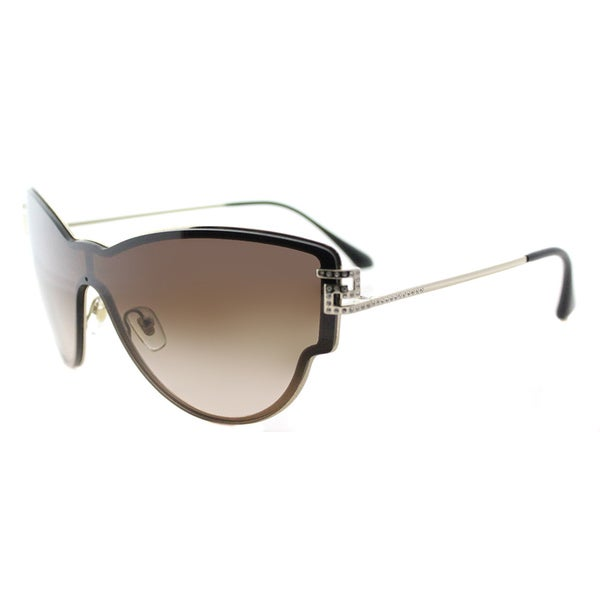 Versace VE 2172B 125213 Embellished Cat-Eye Pale Gold Metal Cat-Eye Brown Gradient Lens Sunglasses
