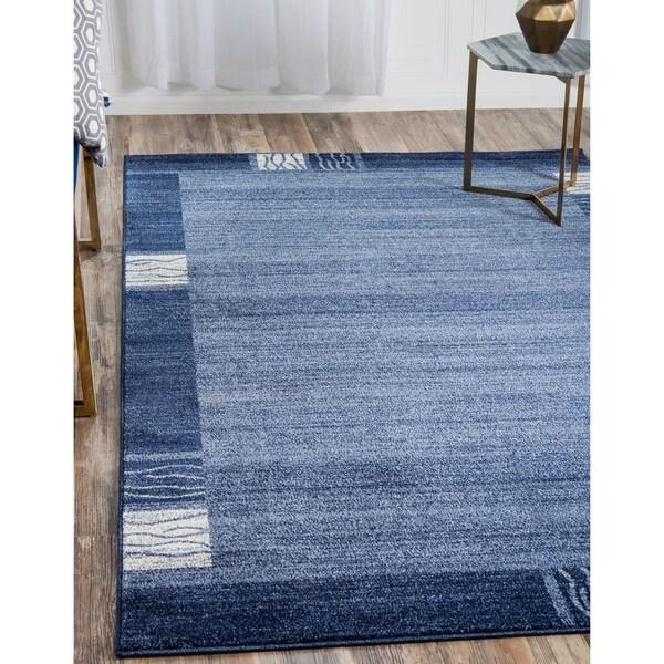 Del Mar Light Blue Polypropylene Rug (5'1 x 8') 22024089