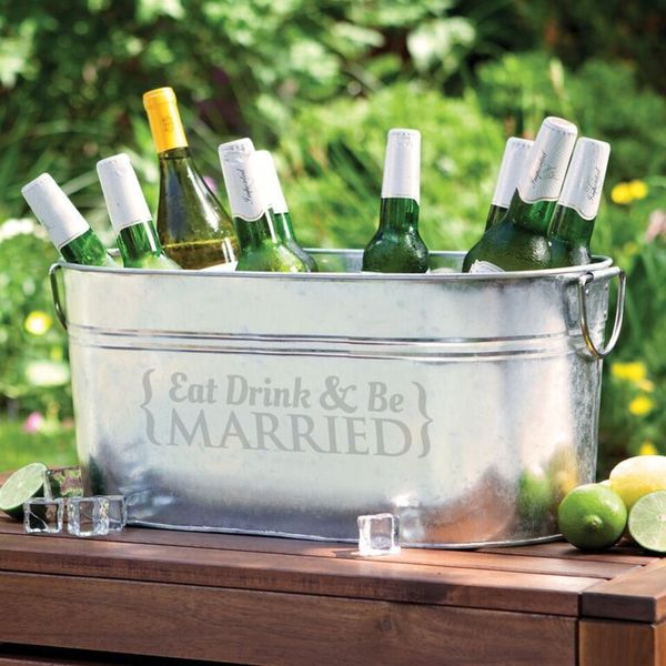 Eat, Drink and Be Married Beverage Tub