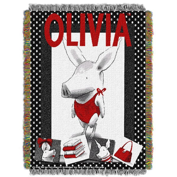 ENT 051 Dreamworks Olivia Star Tapestry Throw