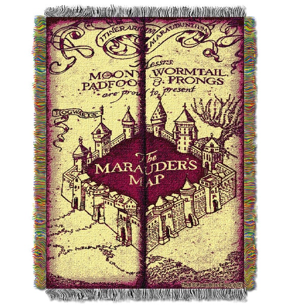 ENT 051 Harry Potter Marauders Map Tapestry Throw