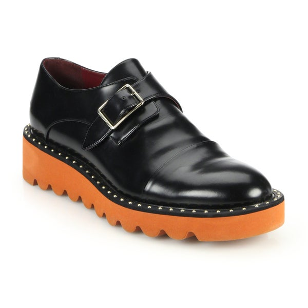 Stella McCartney Odette Black Monk Strap Shoes