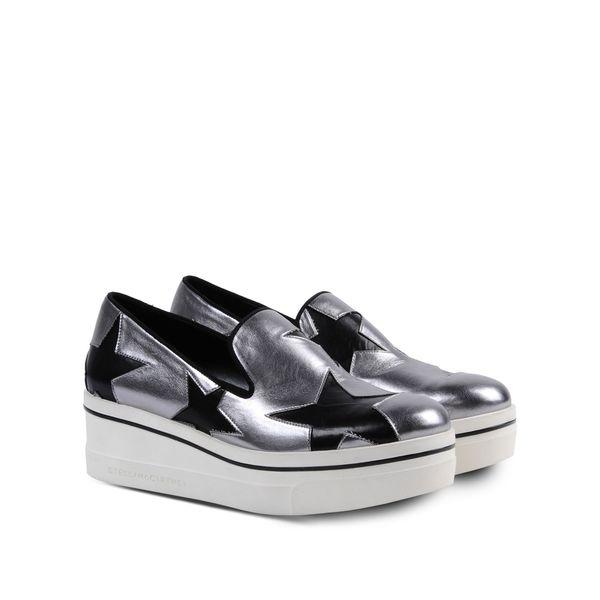 Stella McCartney Binx Silver Star Loafers 22025509