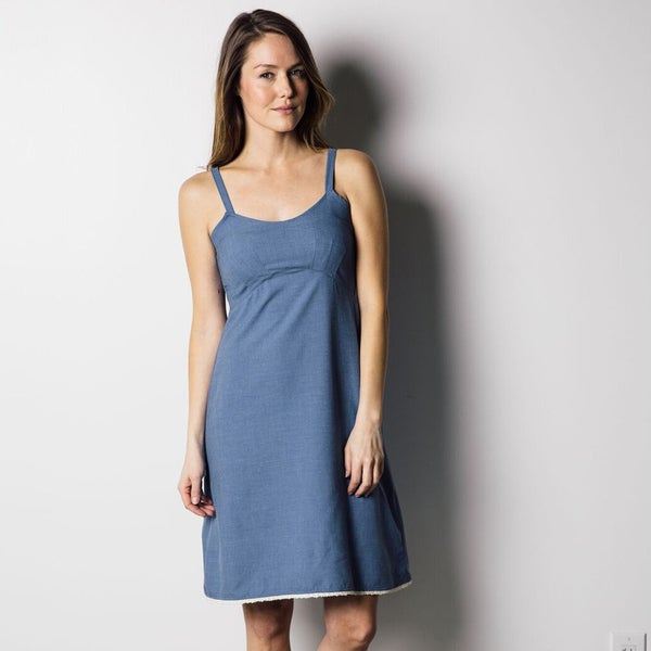 1791 Supply & Co Women's Cerulean Blue Slip Dress