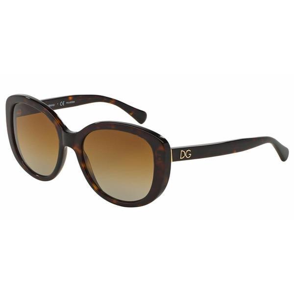 Dolce&Gabbana Women DG4248 502/T5 Havana Plastic Square Sunglasses