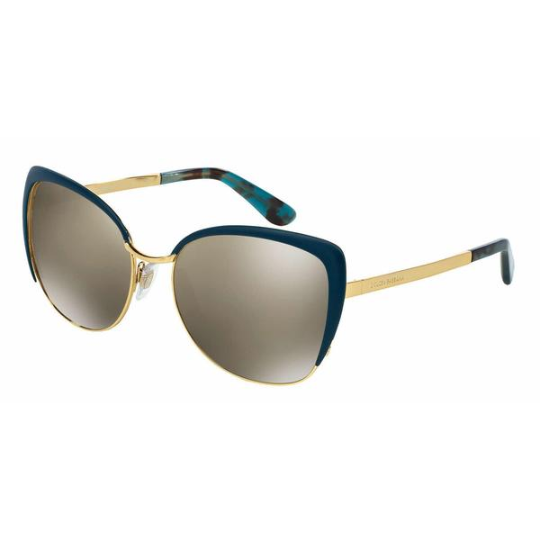 Dolce&Gabbana Women DG2143 SICILIAN TASTE 02/6G Gold Metal Rectangle Sunglasses