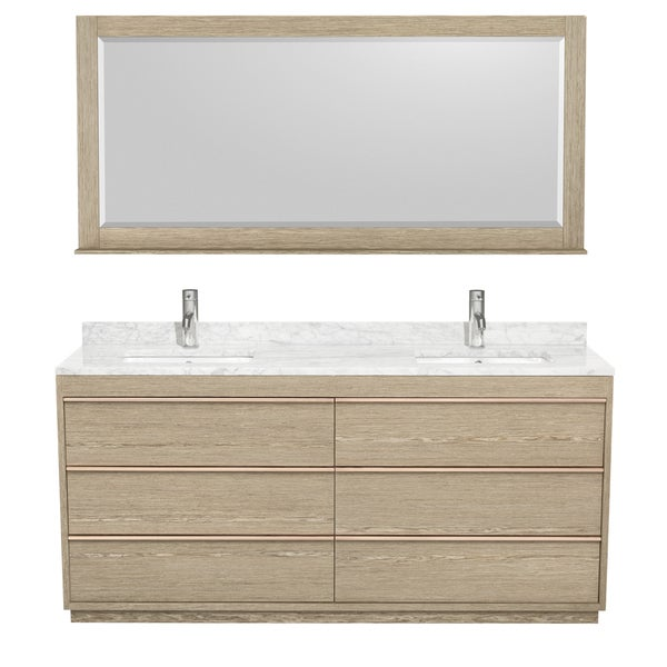 Wyndham Collection Naya 72-inch Ash Grey Double Vanity