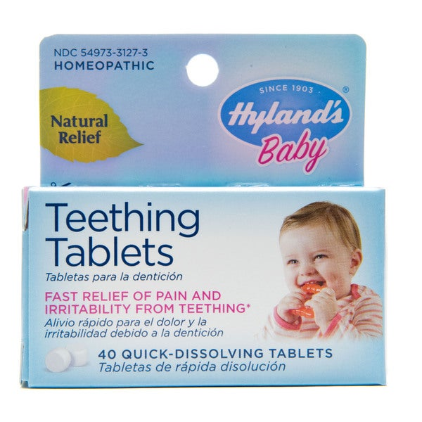 Hyland's Baby Homeopathic Teething Tablets - 40 Tablets (2 Pack)