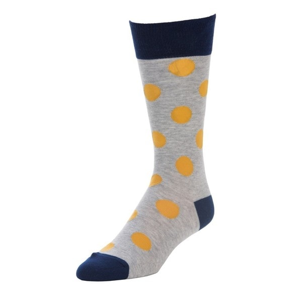 STROLLEGANT Classic Men's Yellow 1 Pair Size 10-13 Crew Socks