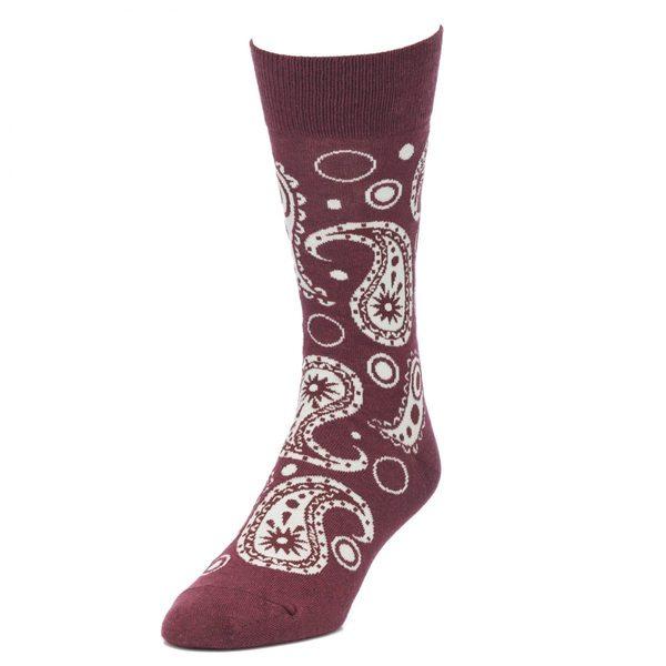 STROLLEGANT Paisley Men's 1 Pair Size 10-13 Crew Socks