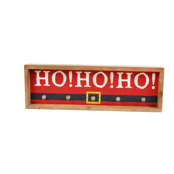 Christmas 'Ho Ho Ho' Illuminated Wall Decor