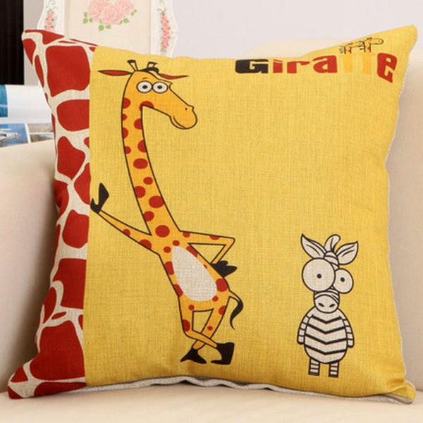 Play It Cool Giraffe 17.5-inch Decorative Nursery Pillow