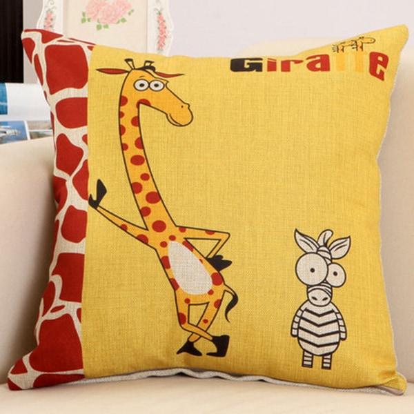 Play It Cool Giraffe 17.5-inch Decorative Nursery Pillow