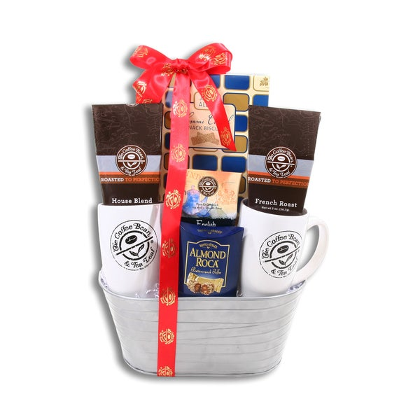 Alder Creek Gift Baskets Coffee Bean & Tea Leaf Gift Basket, Brown/Toffee (Almond/Toffee)