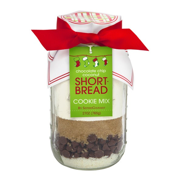 Alder Creek Gift Baskets Sister's Gourmet Merry & Bright Chocolate Chip Coconut Shortbread