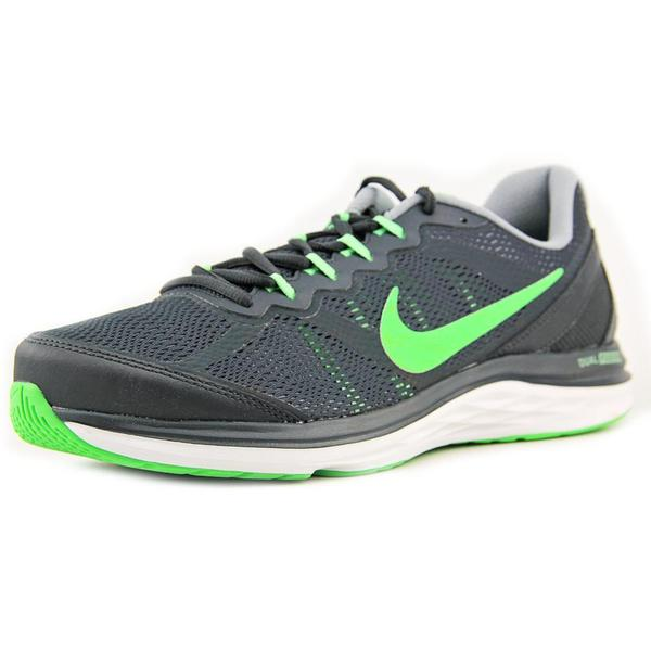 Nike Men's Dual Fusion Run 3 Grey Mesh Athletic Shoes