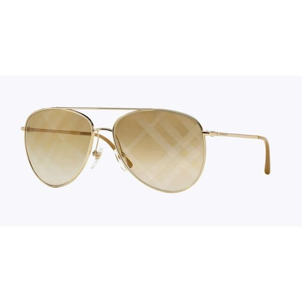 Burberry Women BE3072 1017B3 Gold Metal Cateye Sunglasses