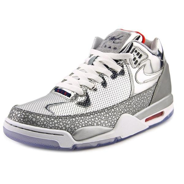 Nike Men's Flight Squad QS Silver Synthetic Athletic Shoes