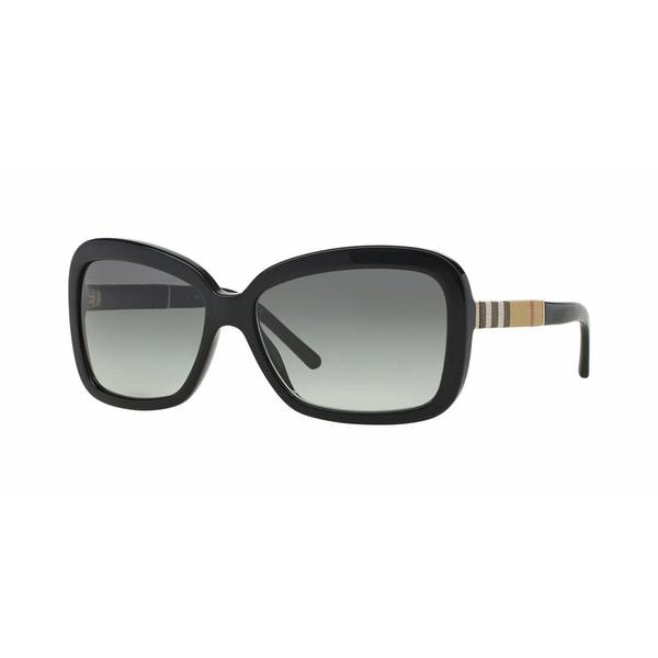 Burberry Women BE4173 300111 Black Rectangle Sunglasses