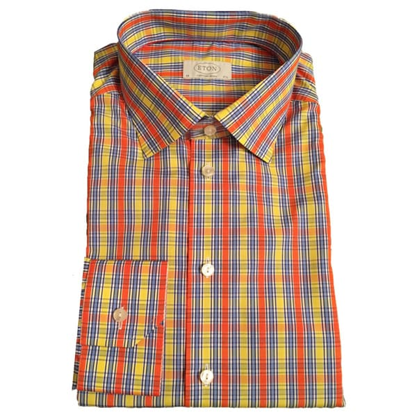 Eton Men's Plaid Cotton Shirt