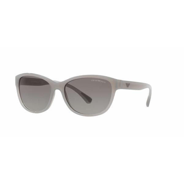 Emporio Armani Women EA4080 553611 Grey Oval Sunglasses