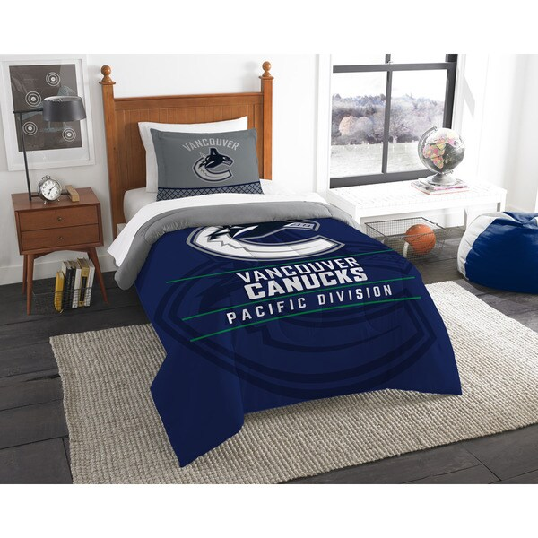 The Northwest Company NHL 86201 Canucks Draft Twin 2-piece Comforter Set