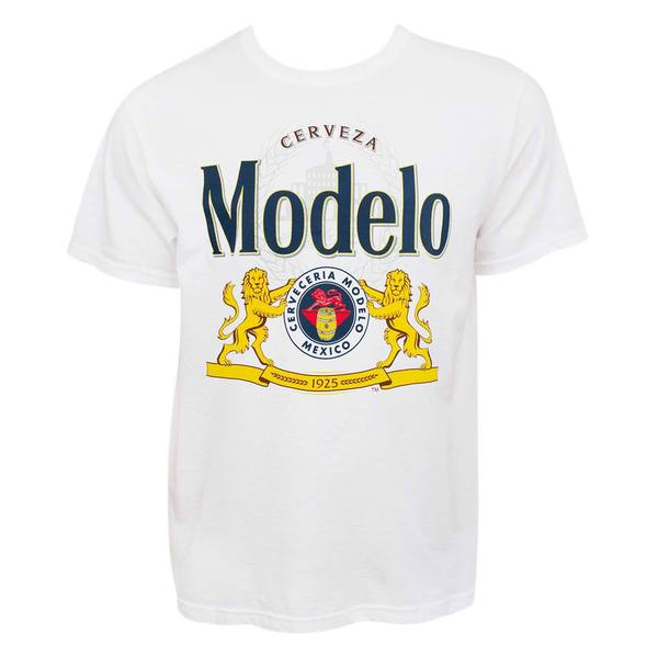 Modelo Cerveza Graphic Logo Cotton Tee Shirt