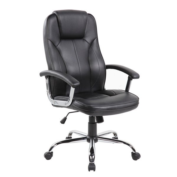 Executive High Back Black Faux Leather Office Task Chair 22035911
