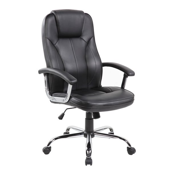 Executive High Back Black Faux Leather Office Task Chair 22035912
