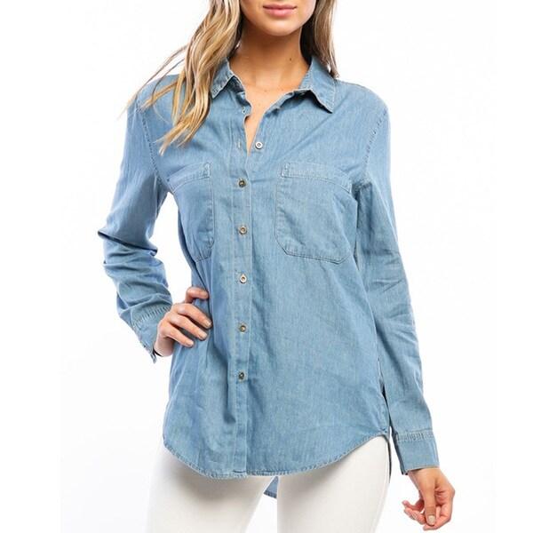 Women's Denim Button-up Shirt