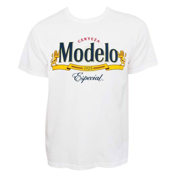Modelo Cerveza Logo White Cotton T-shirt