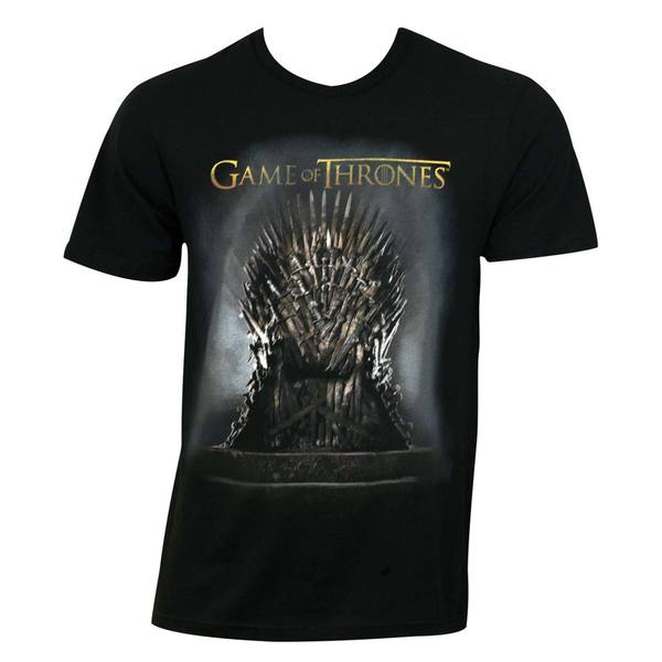 Game Of Thrones Men's Black Throne T-shirt
