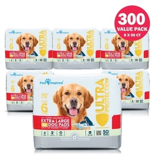Paw Inspired 300ct Extra Large Puppy Pads, Dog Pads, Dog Pee Pads, Puppy Training Pads, Potty Pads