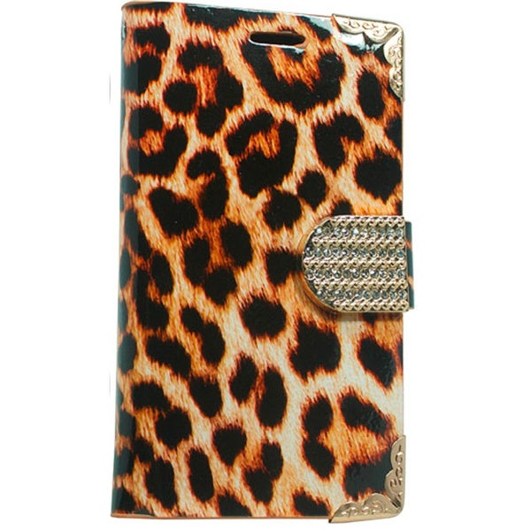 Motorola Moto E LTE LIPS Deluxe PU Leather Animal Print Wallet Pouch