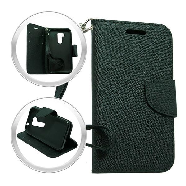 LG Leon H320 Power L22c Destiny Black Wallet Pouch