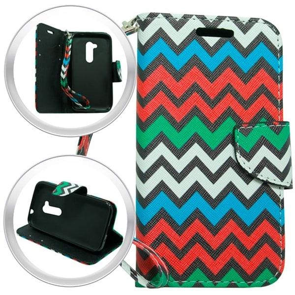 LG Joy H220 Rainbow Chevron Wallet Pouch