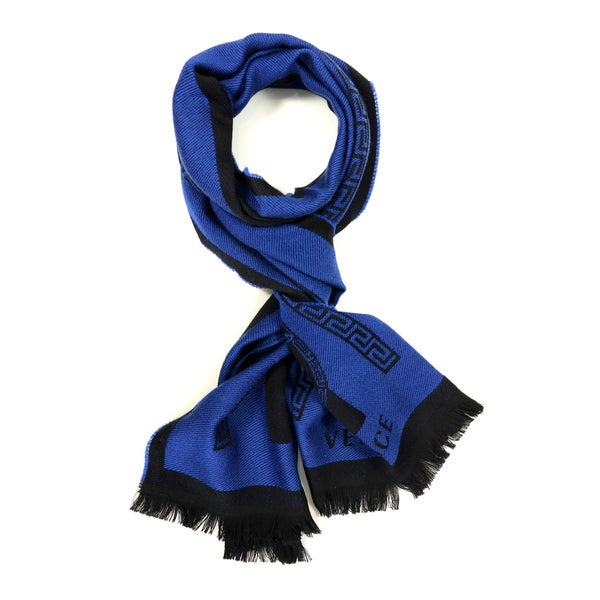 Versace Double Middle Stripe Men's Scarf