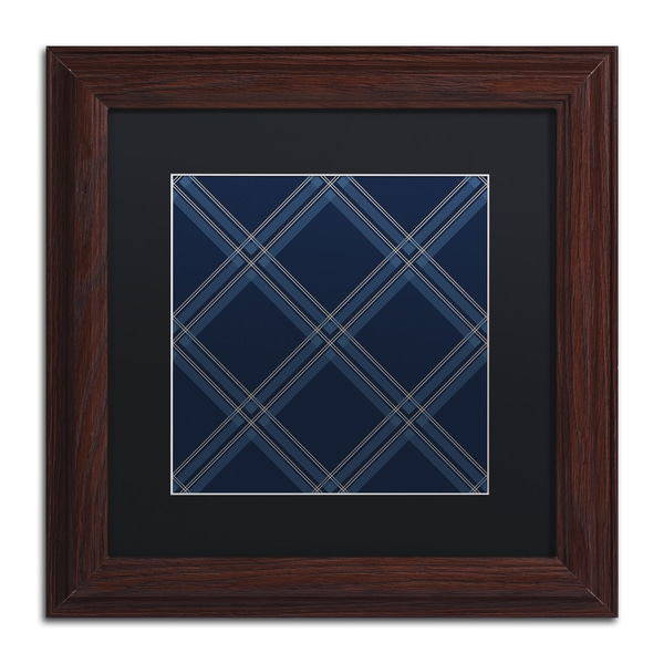 Jennifer Nilsson 'Dk Blue Diamond' Matted Framed Art