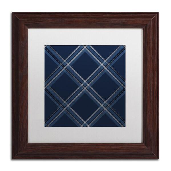 Jennifer Nilsson 'Dk Blue Diamond' Matted Framed Art