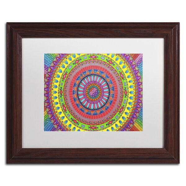 Hello Angel 'Aztec Rainbow' Matted Framed Art
