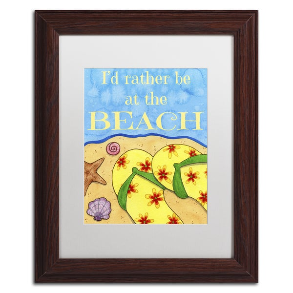 Jennifer Nilsson 'Rather Be At The Beach' Matted Framed Art