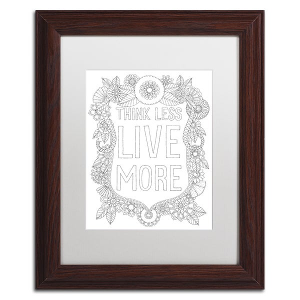 Hello Angel 'Think Less' Matted Framed Art