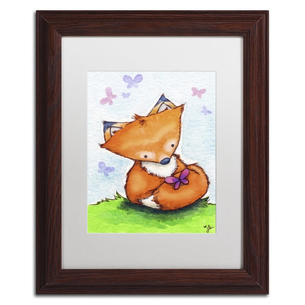 Jennifer Nilsson 'Little Fox and New Friend' Matted Framed Art