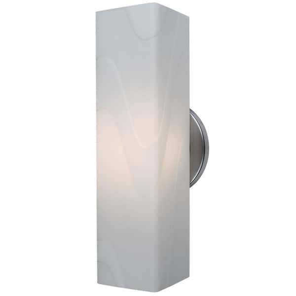 Bruck Lighting Houston 1-light Chrome Wall Sconce with White Glass Shade