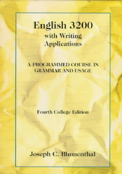 English 3200 With Writing Applications: A Programmed Course in Grammar and Usage (Paperback)