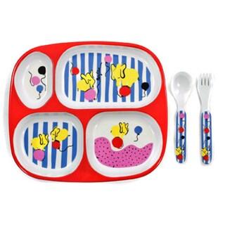 Children's 'Elephants' Multicolor Melamine 5-piece Gift Set 22053174